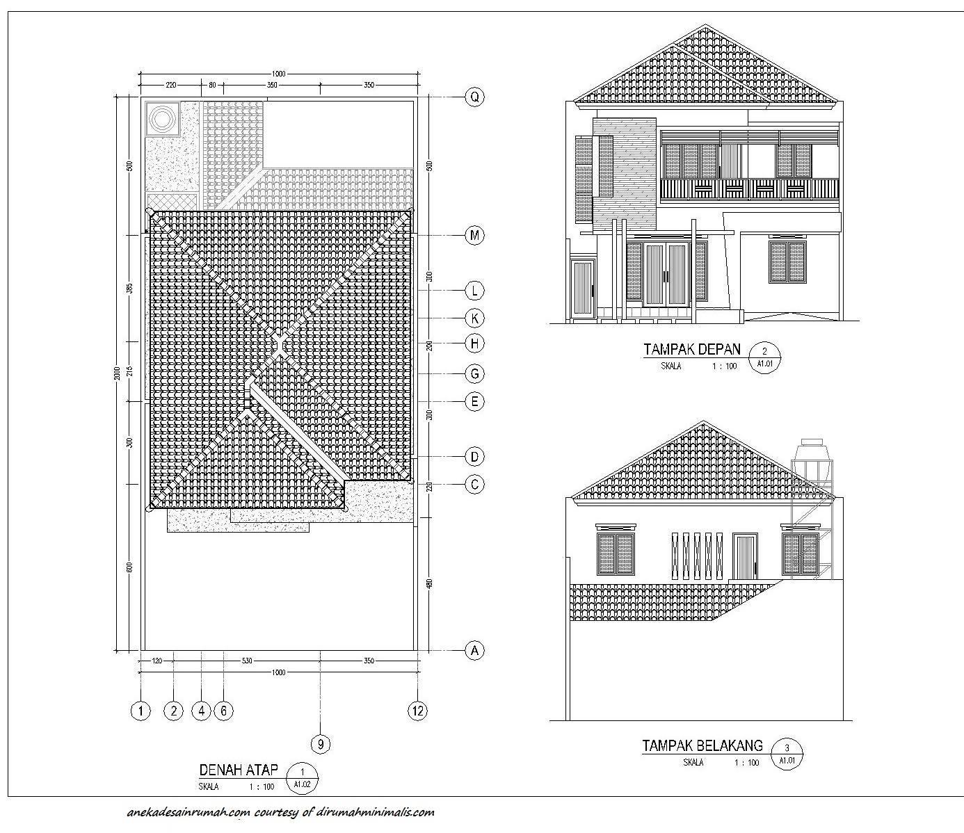 Best Denah Rumah Lengkap Dengan Atap