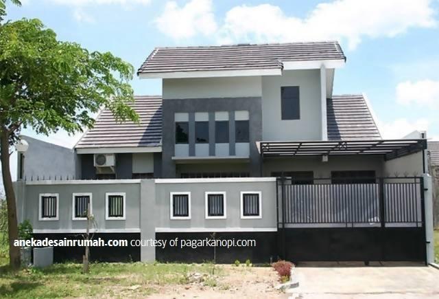 desain kanopi baja ringan teras rumah transparan minimalis