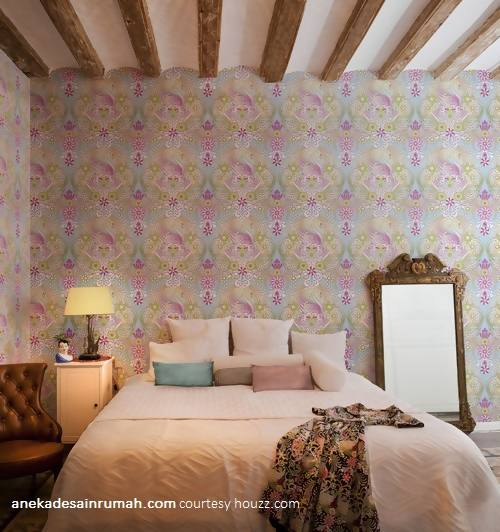 Gambar desain wallpaper dinding kamar tidur minimalis modern
