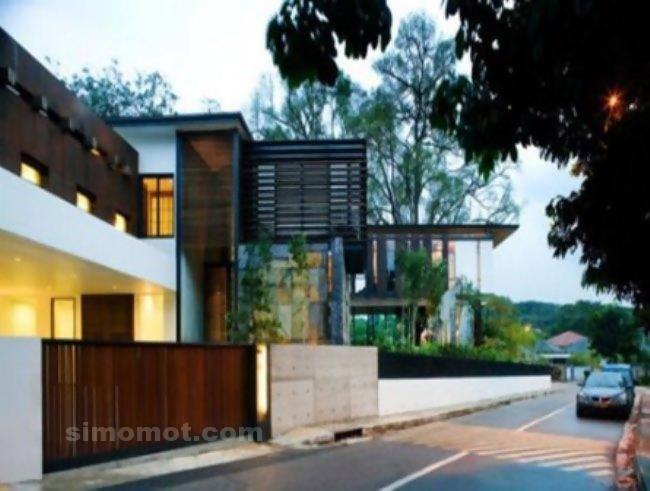 foto desain eksterior rumah minimalis modern ke 11 si