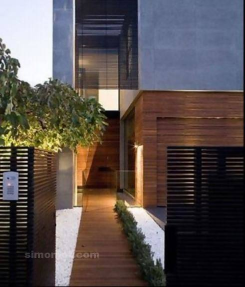 foto desain eksterior rumah minimalis modern ke 143 si