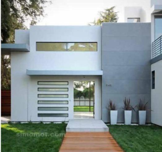 foto desain eksterior rumah minimalis modern ke 15 si