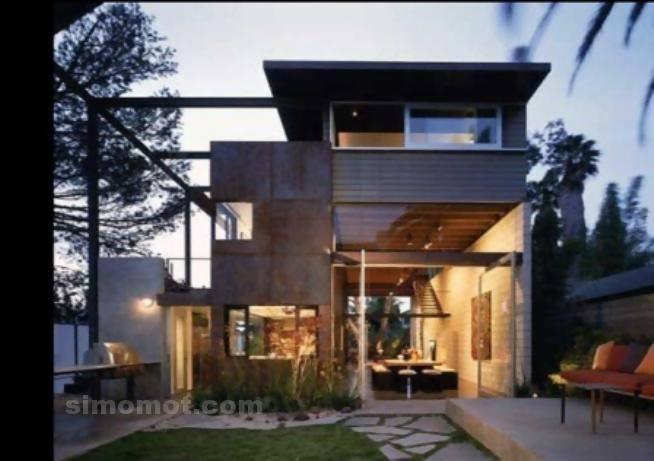 foto desain eksterior rumah minimalis modern ke 239 si
