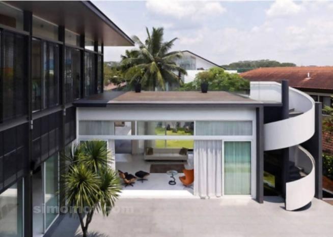 foto desain eksterior rumah minimalis modern ke 24 si
