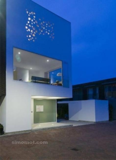 foto desain eksterior rumah minimalis modern ke 270 si