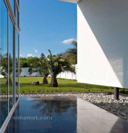 foto desain eksterior rumah minimalis modern ke 30 si
