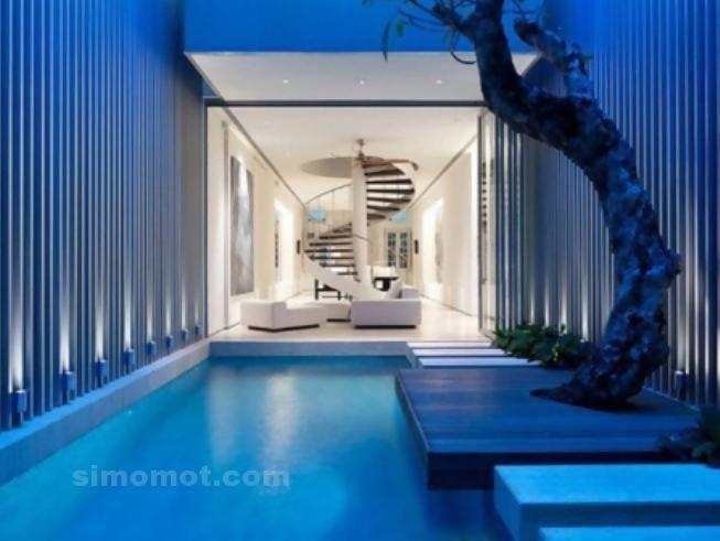 foto desain eksterior rumah minimalis modern ke 360 si
