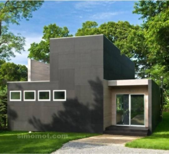 foto desain eksterior rumah minimalis modern ke 370 si