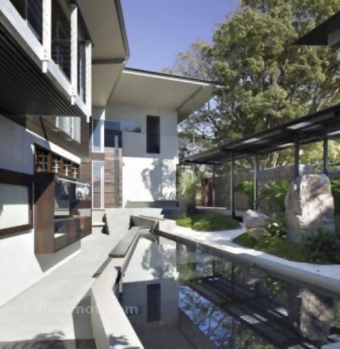 foto desain eksterior rumah minimalis modern ke 38 si