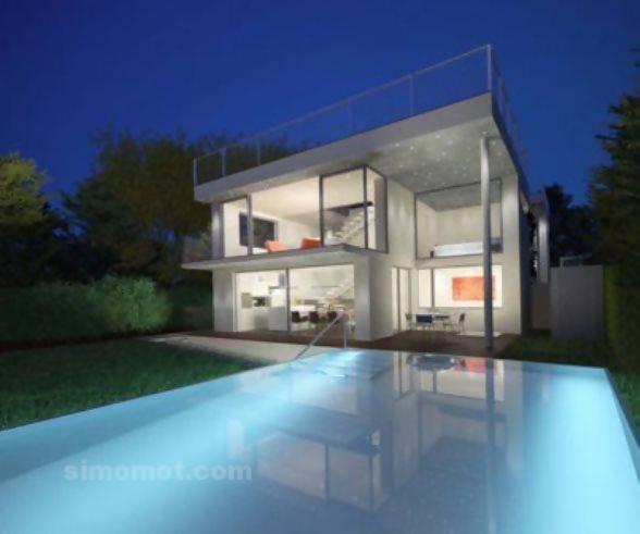 foto desain eksterior rumah minimalis modern ke 403 si