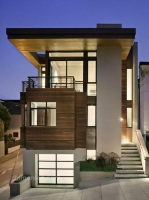 Foto Desain Eksterior Rumah Minimalis Modern Ke 456
