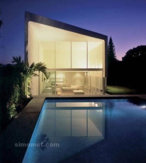 foto desain eksterior rumah minimalis modern ke 75 si