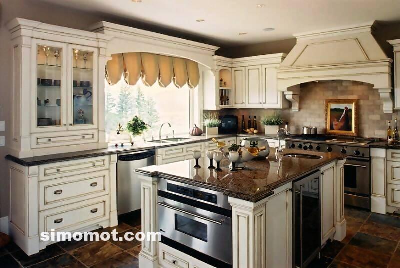 foto desain interior dapur kayu mewah 10 si momot