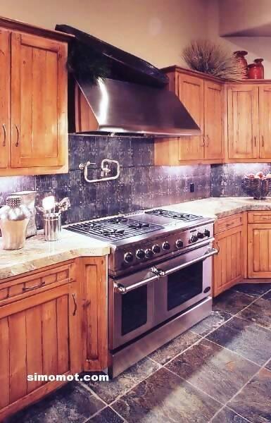 foto desain interior dapur kayu mewah 103 si momot