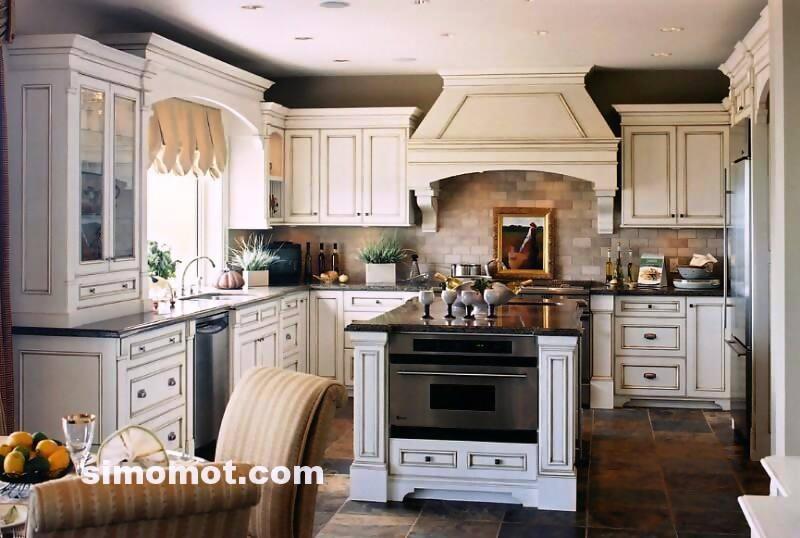 foto desain interior dapur kayu mewah 11 si momot