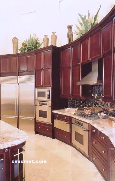 foto desain interior dapur kayu mewah 117 si momot