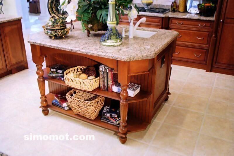foto desain interior dapur kayu mewah 132 si momot