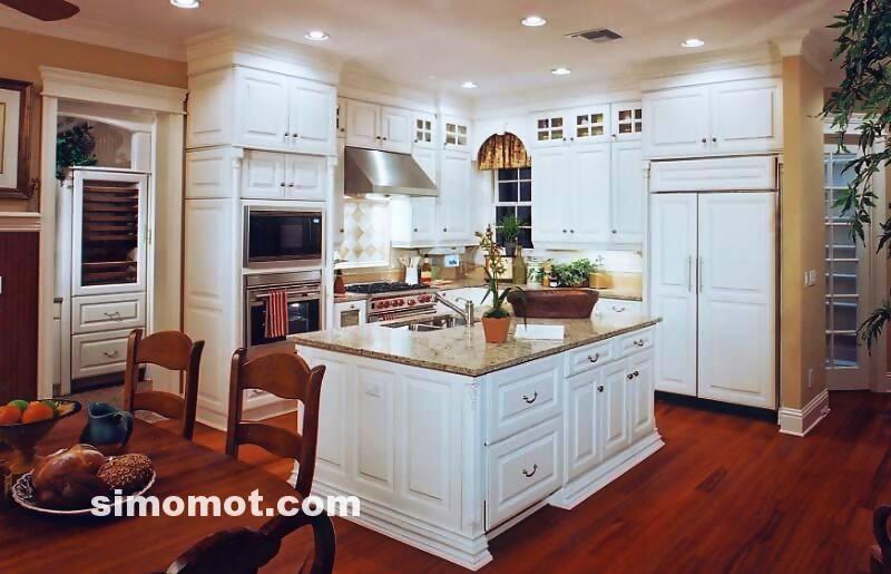 foto desain interior dapur kayu mewah 157 si momot