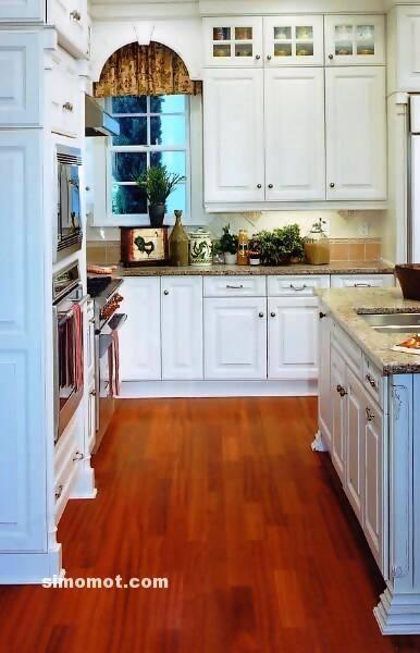 foto desain interior dapur kayu mewah 158 si momot