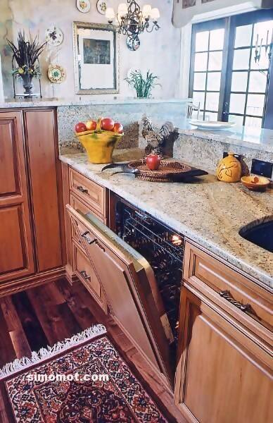 foto desain interior dapur kayu mewah 163 si momot