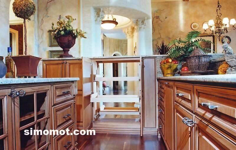 foto desain interior dapur kayu mewah 168 si momot