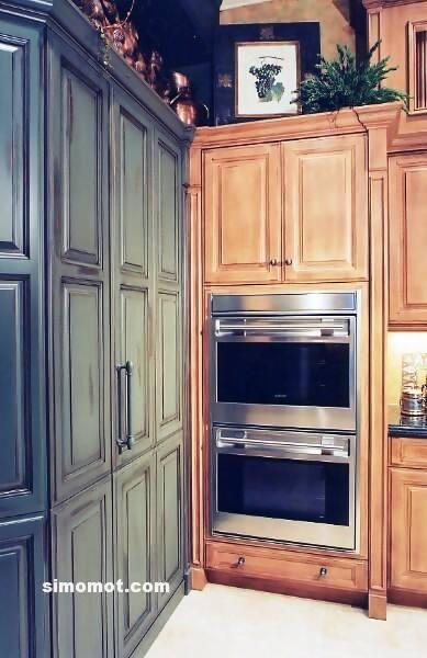 foto desain interior dapur kayu mewah 175 si momot