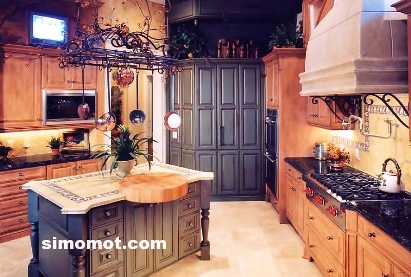 foto desain interior dapur kayu mewah (178)