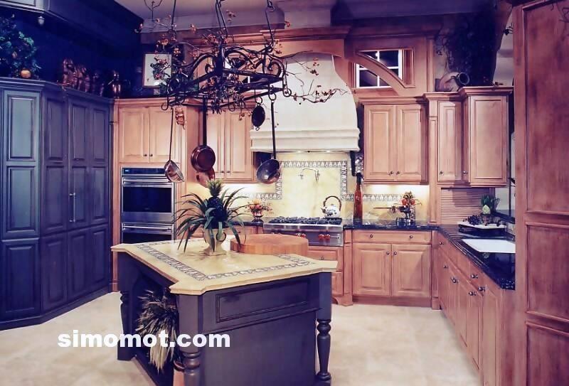 foto desain interior dapur kayu mewah 179 si momot