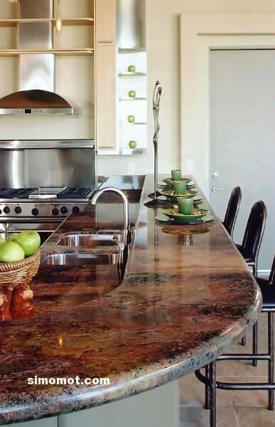 foto desain interior dapur kayu mewah 206 si momot