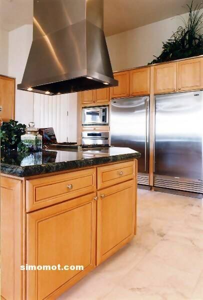 foto desain interior dapur kayu mewah 226 si momot