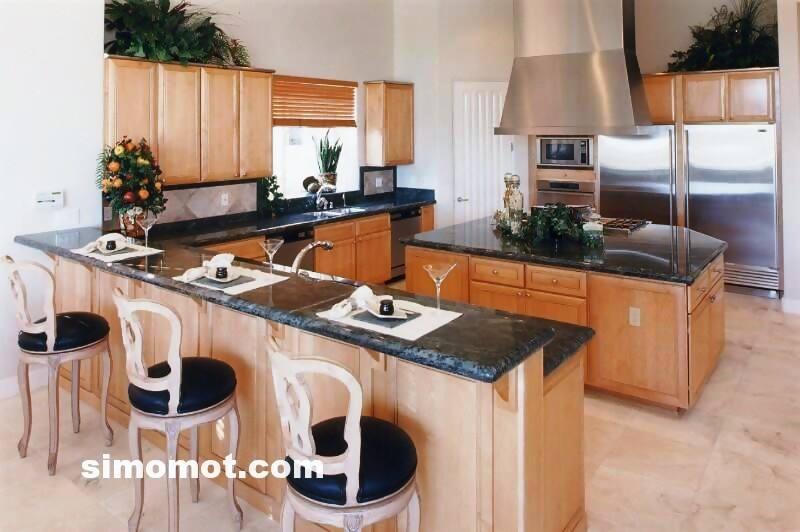 foto desain interior dapur kayu mewah 227 si momot