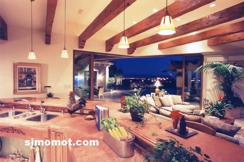 foto desain interior dapur kayu mewah 238 si momot