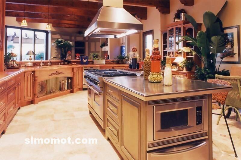 foto desain interior dapur kayu mewah 239 si momot