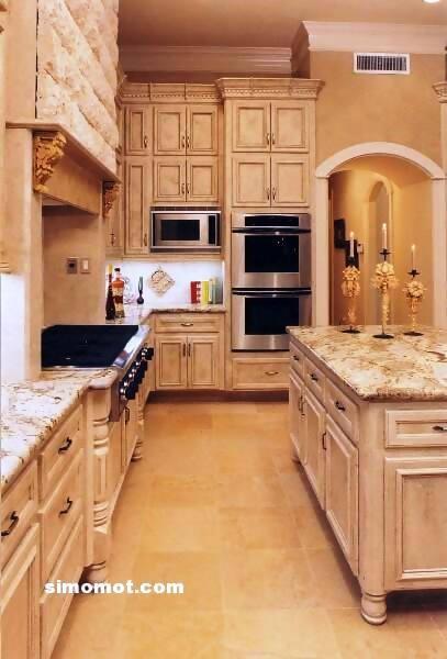 foto desain interior dapur kayu mewah 251 si momot