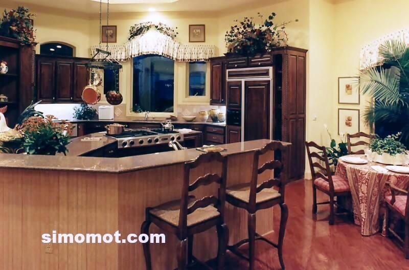 foto desain interior dapur kayu mewah 264 si momot