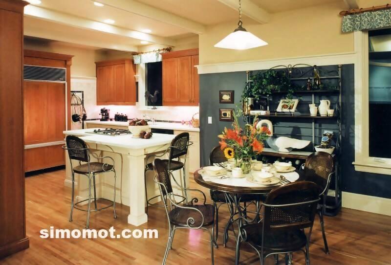 foto desain interior dapur kayu mewah 286 si momot