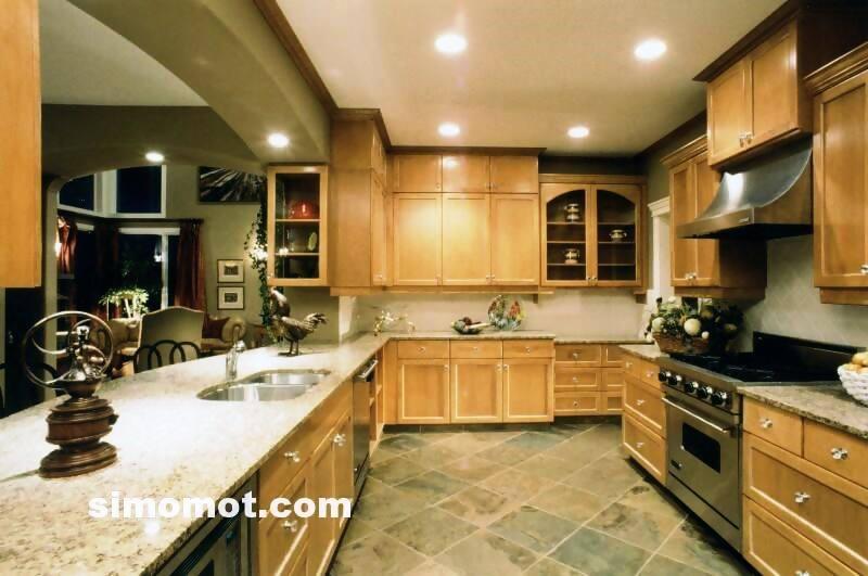 foto desain interior dapur kayu mewah (288)
