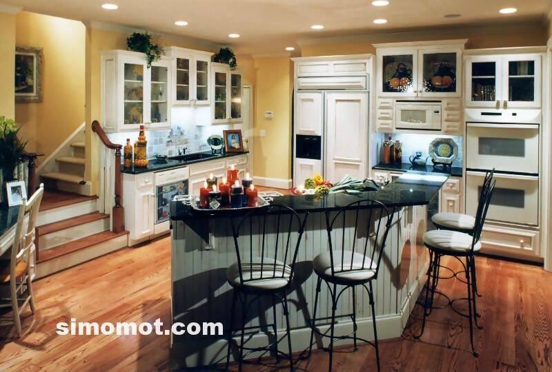 foto desain interior dapur kayu mewah (311)