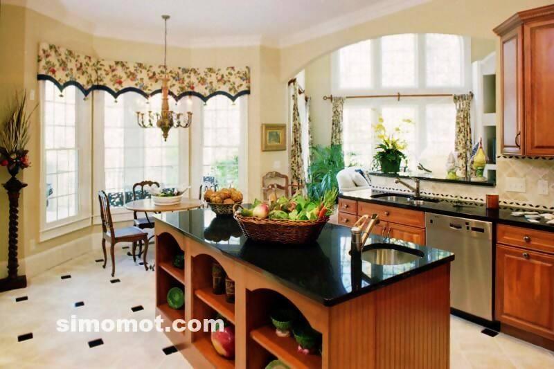 foto desain interior dapur kayu mewah 315 si momot