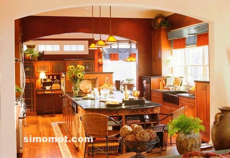 foto desain interior dapur kayu mewah (325)