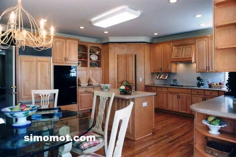 foto desain interior dapur kayu mewah 333 si momot