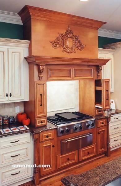 foto desain interior dapur kayu mewah 337 si momot