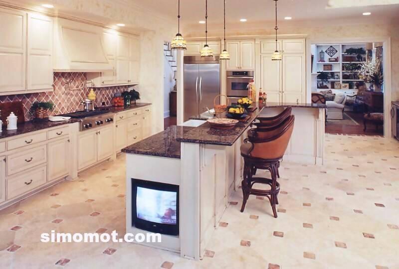 foto desain interior dapur kayu mewah 347 si momot