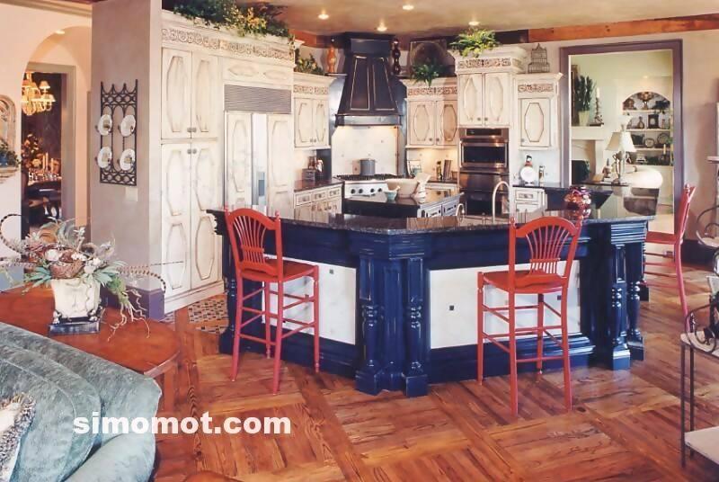 foto desain interior dapur kayu mewah 363 si momot