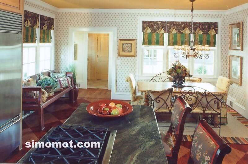 foto desain interior dapur kayu mewah 373 si momot
