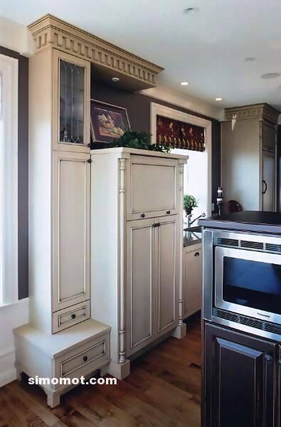 foto desain interior dapur kayu mewah 38 si momot