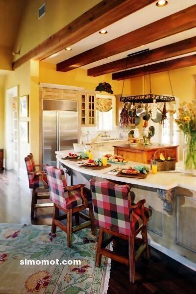 foto desain interior dapur kayu mewah 48 si momot