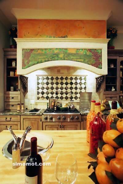 foto desain interior dapur kayu mewah 59 si momot