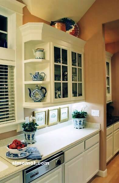 foto desain interior dapur kayu mewah 83 si momot