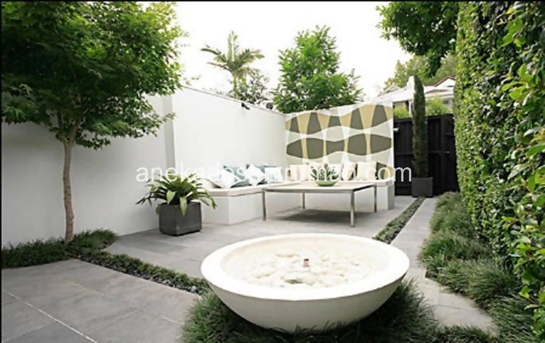 foto desain taman rumah minimalis tanpa air 189 si momot
